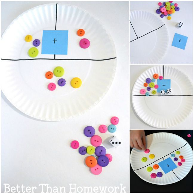 Paper Plate Addition Game Math Crafts Addition Games Paper Plates