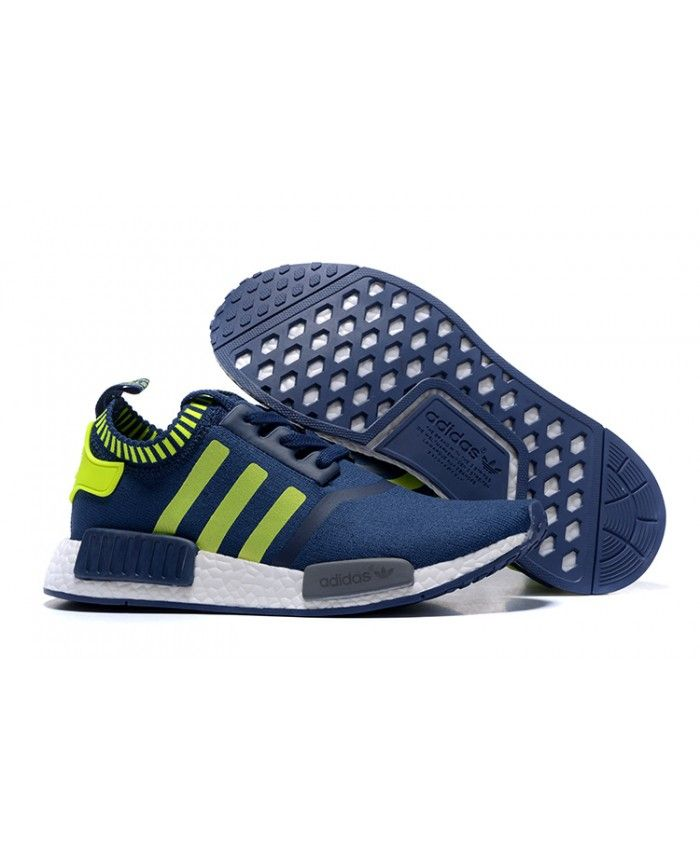 66a4fbeef4232 Sale Adidas NMD Runner Blue Green White Shoes Online Sale UK ...