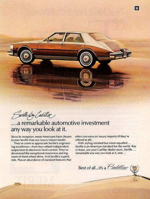 1982 Cadillac Seville by aldenjewell, via Flickr