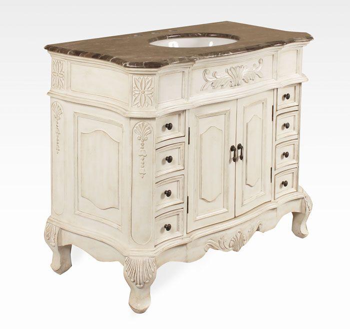 42 inch antique bathroom vanity bx8248151aw | small bathroom