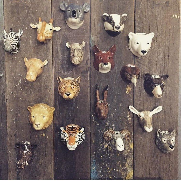 Quail Ceramics Animal Head Wall Vases Home D 233 Cor In 2019 Ceramic Animals Animals Animal Heads