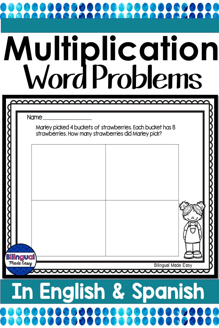 Bilingual Multiplication Word Problems In English Spanish Digital Learning Multiplication Word Problems Word Problems Word Problem Worksheets [ 1152 x 768 Pixel ]