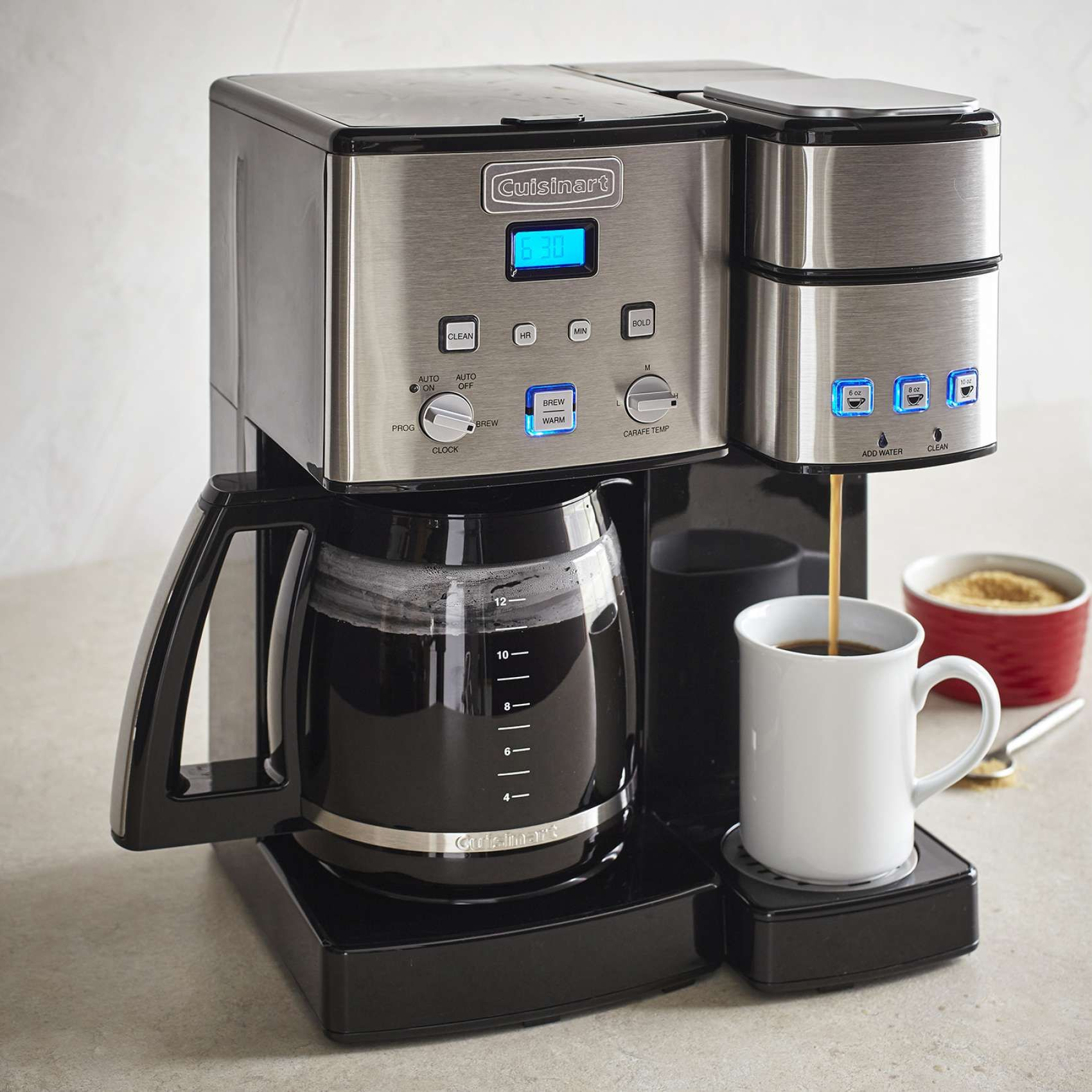 Cuisinart Coffee Center 12 Cup Coffee Maker And Single Serve Brewer Sur La Table Cuisinart Coffee Maker Camping Coffee Maker One Cup Coffee Maker