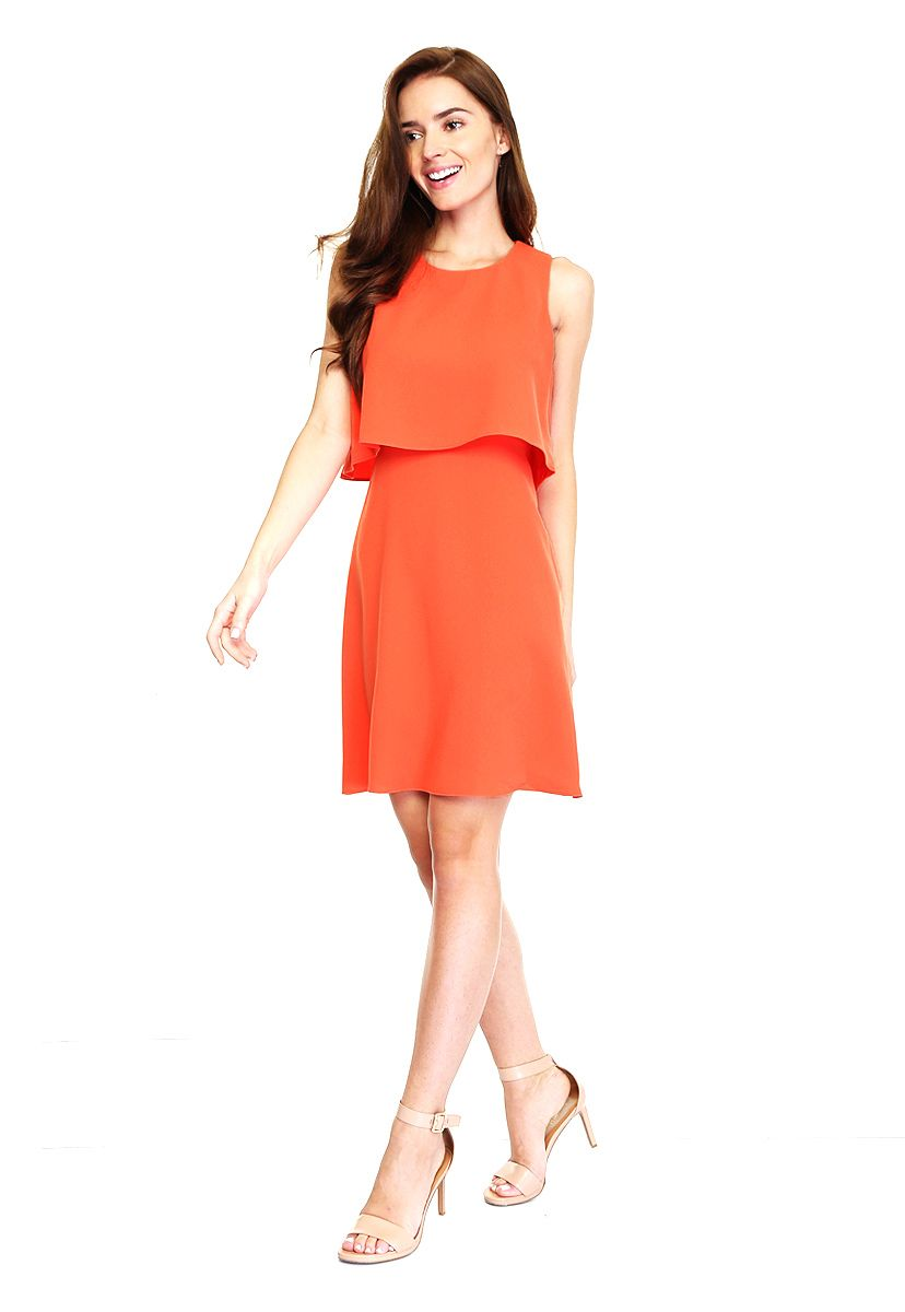Vestido Naranja de Calvin Klein   Vestido civil   Pinterest ... dc15cf315e