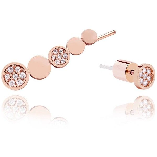 Astrid Miyu Black Magic Circle Earrings in Rose Gold 55