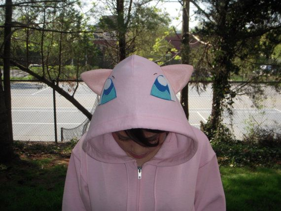 MEW Pokemon  inspired Hoodie for ADULTS by PoppityPop on Etsy, $60.00