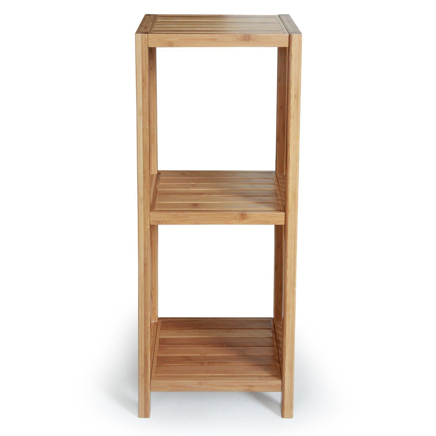 Toielttree Products Deluxe Bathroom Bamboo Freestanding Organizing Shelf 3 Tier Shelf Shelves Measure 14 Inches Wood Chair Bamboo Shelf Shelf Organization