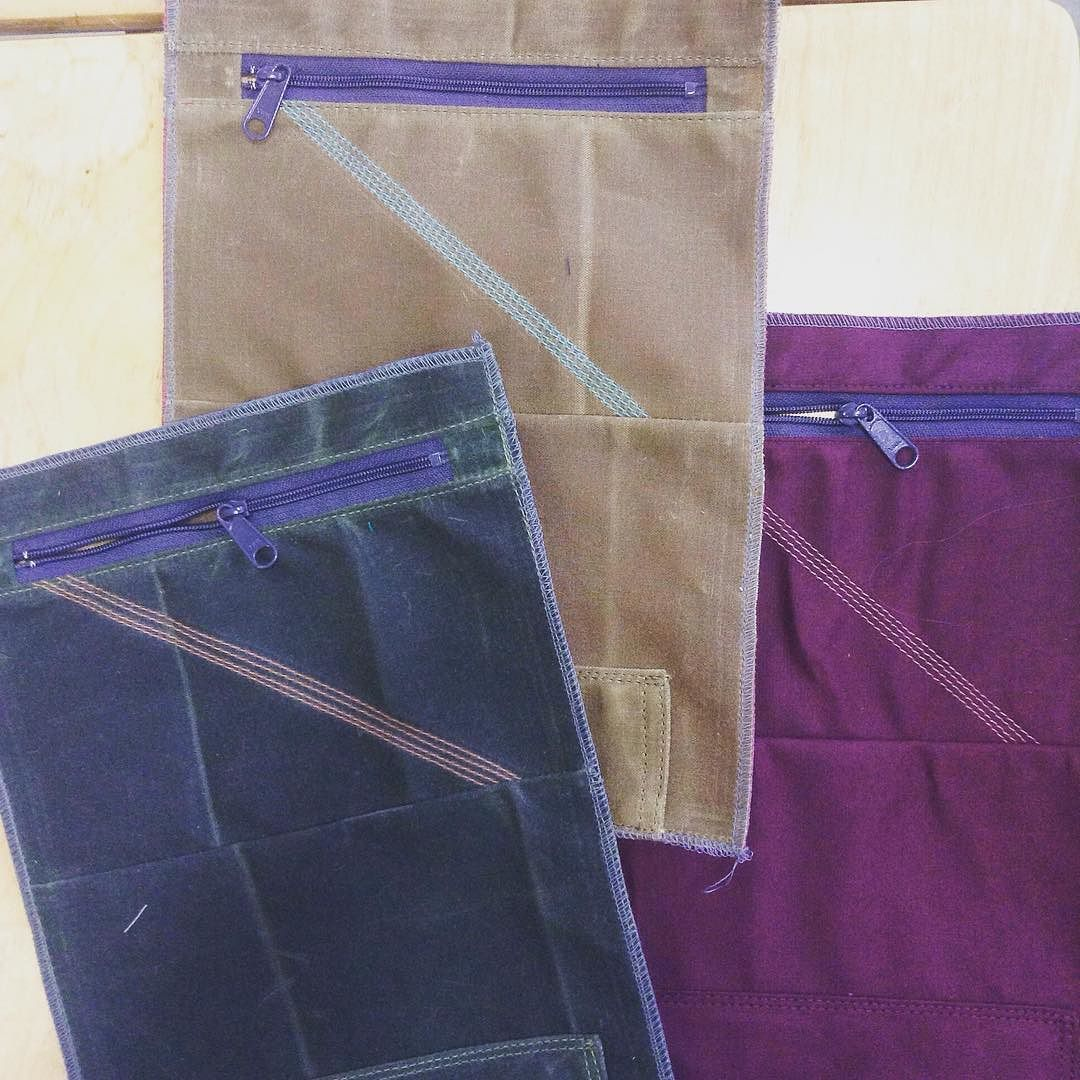 A new batch of one of a kind #waxedcanvas Hip Holsters just got sewn up for the shop! $52 each :)