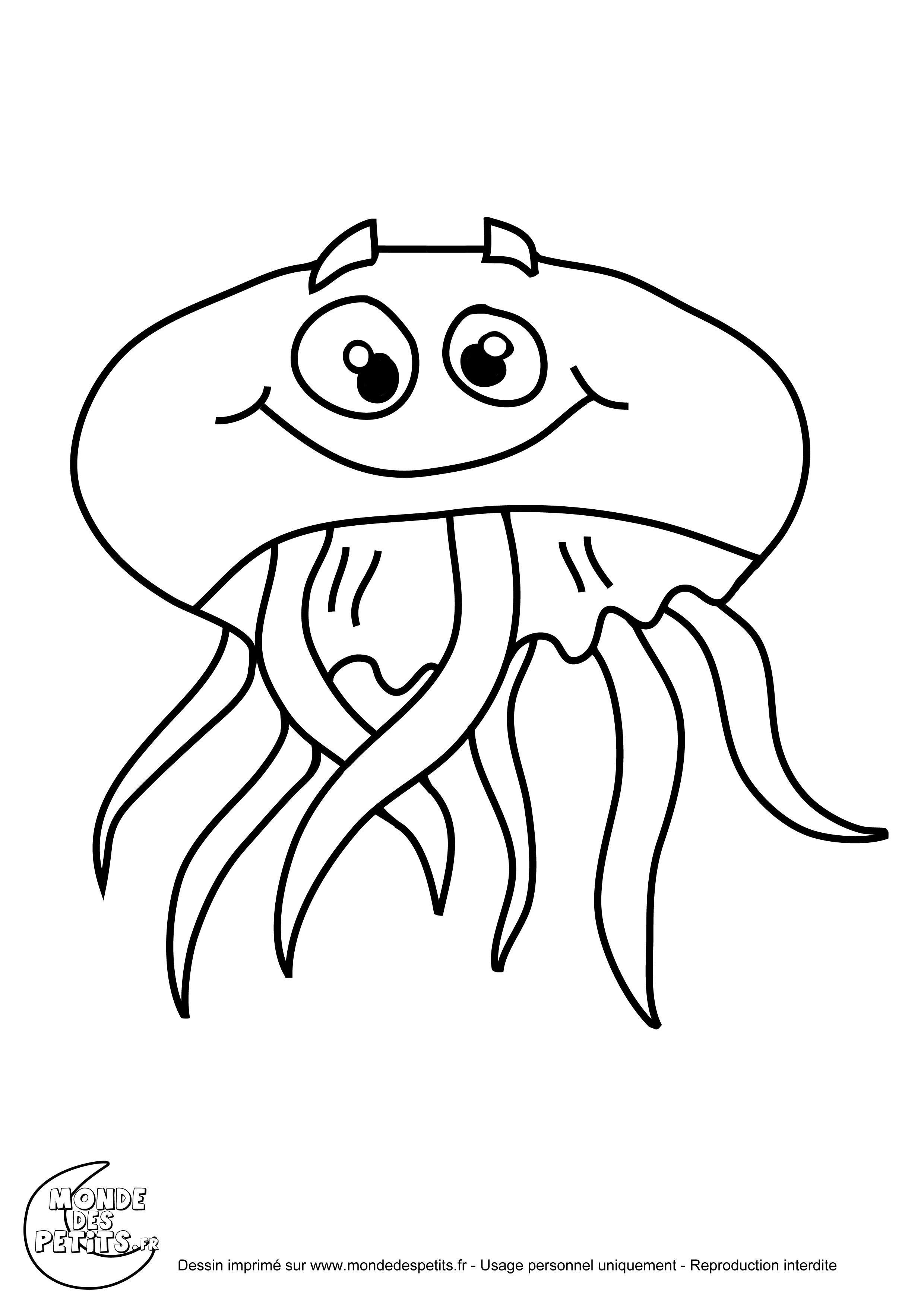 114 Dessins De Coloriage Meduse A Imprimer Sea Crafts Mario Characters Animals