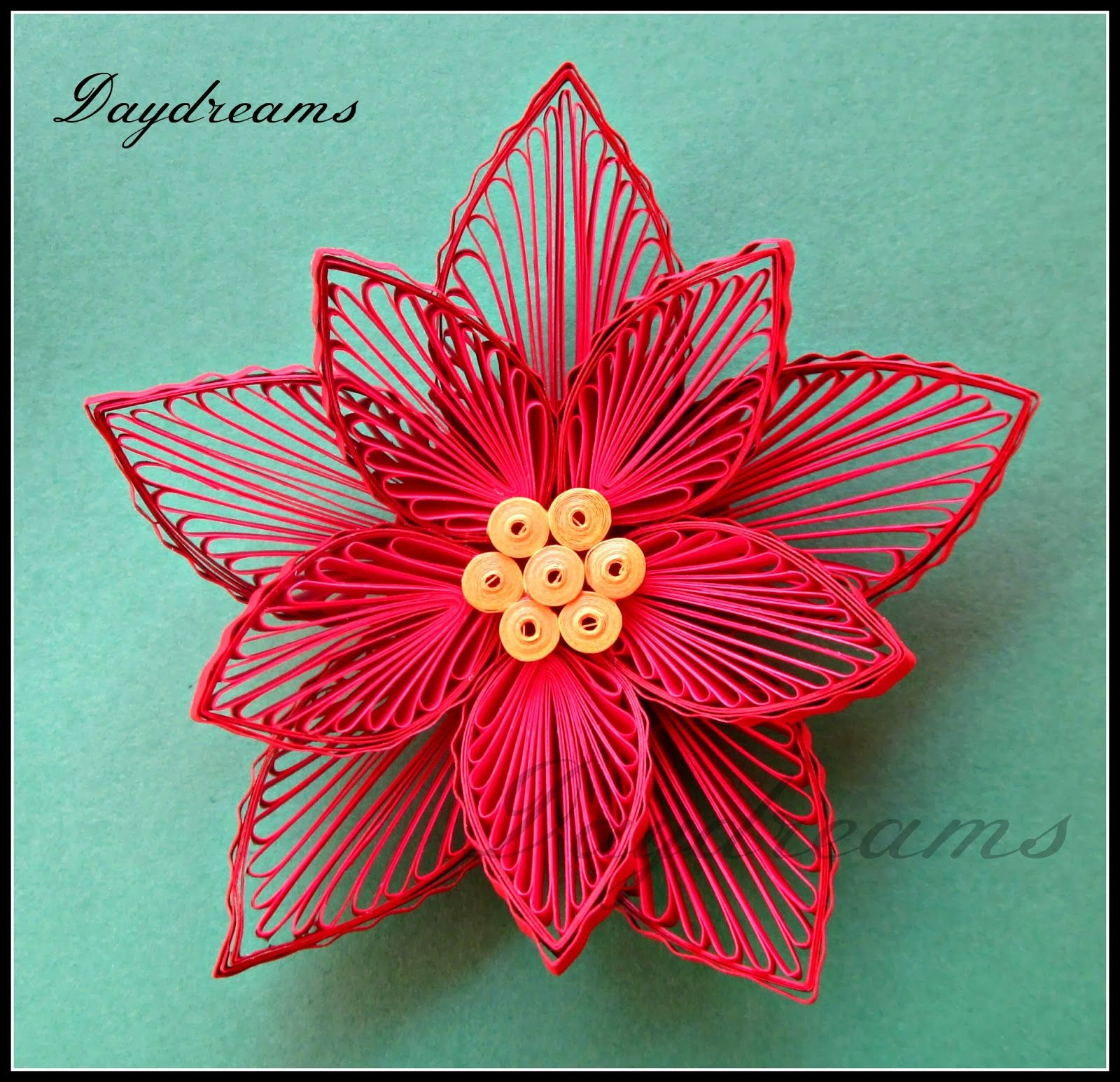 Quilled Poinsettia Christmas Card By SUGANTHI Her Website