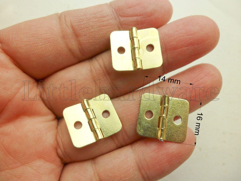 Decorative Box Hinges 10 Pcs Golden Color Metal Mini Hinges Parliament Hinges Jewelry