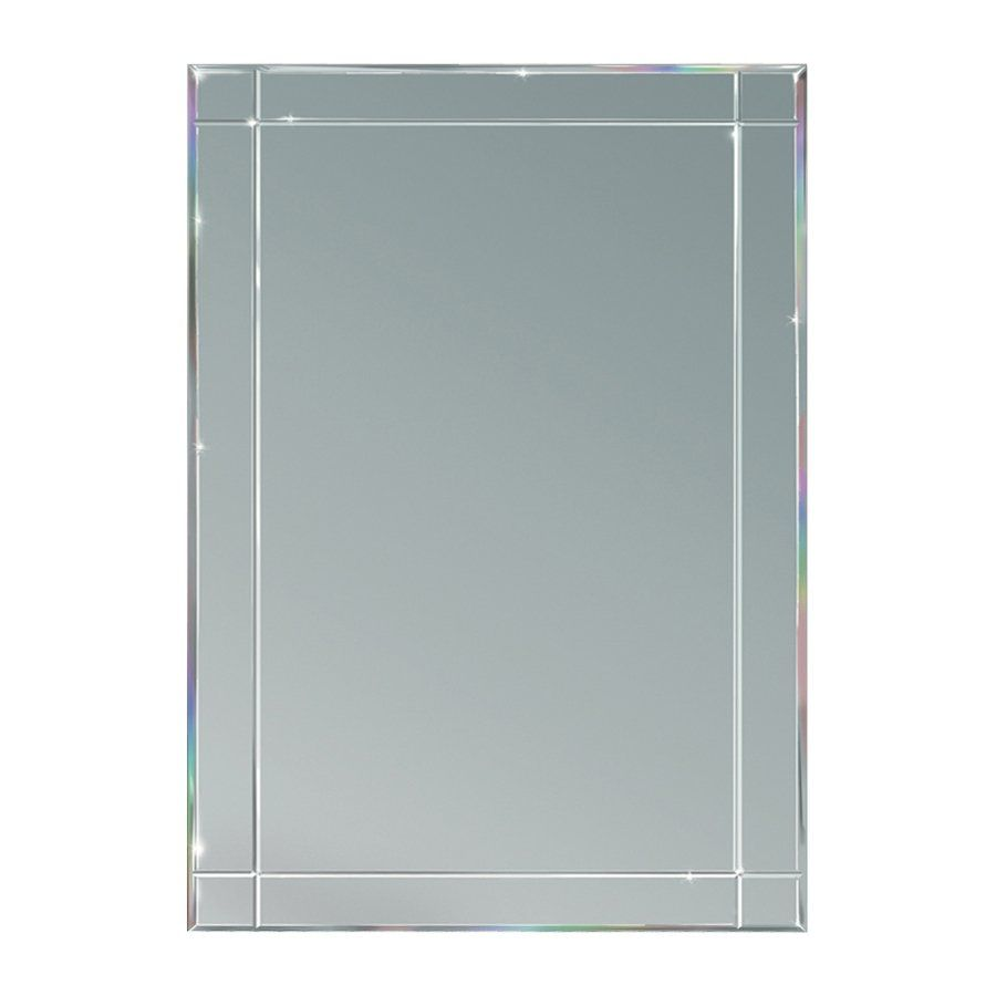 Frameless Mirror Canada 24 In X 30 In V Groove Edge Mirror Lowe S Canada Home Reno