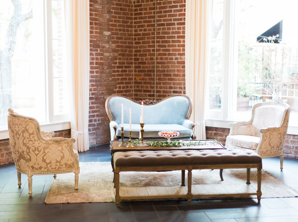 wedding coordinators in orange county ca%0A Vintage Seating area by Archive Vintage Rentals  Estate on Second in Santa  Ana