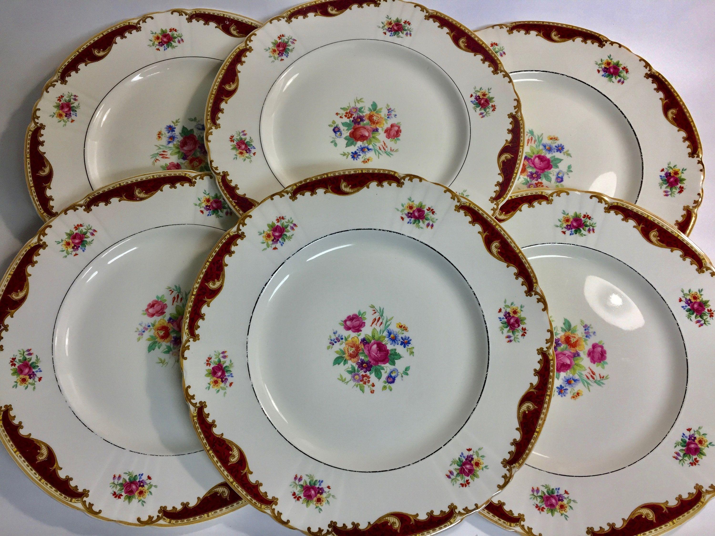 Vintage China Dorthy Pattern Myott Staffordshire Dinner Plates 3919 Plate By