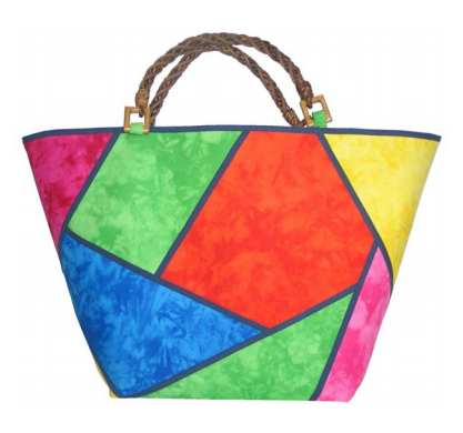 patchwork stained glass bag. this opens a pdf