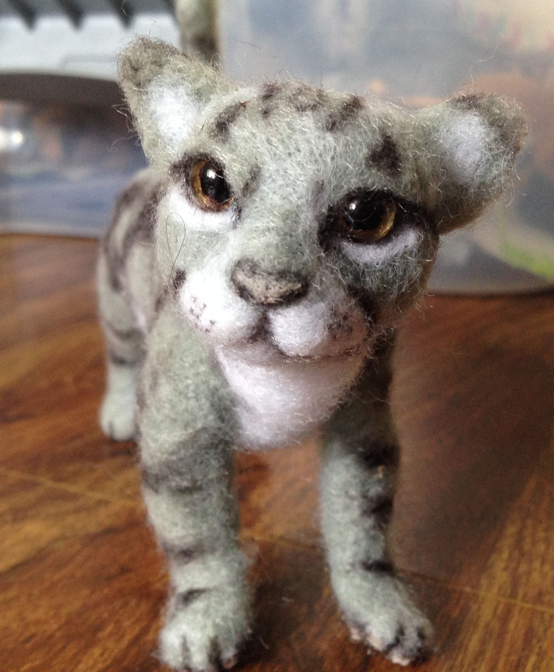 Striped Gray Cat For sale now on Etsy. Leafdancer