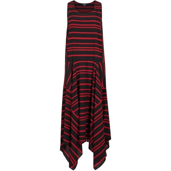 Womens Statement Dresses DKNY Striped Stretch Silk Midi Dress (1.550.770 COP) ❤ liked on Polyvore featuring dresses, black skater skirt, mid calf dresses, flared midi skirt, dkny dresses and skater skirt
