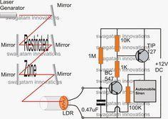 Electronic Circuit Projects: Simple Burglar Alarm Circuits | alarm ...