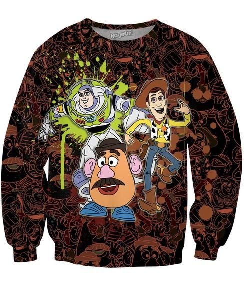 Toy Story Splatter Crewneck Sweatshirts | Mopixiestore.com