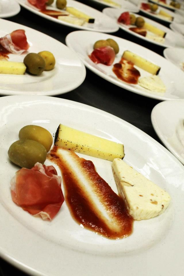 Cheese Course:  Gourmandise– France  Teahive– Utah  La Quercia Proscuitto-Iowa  Gordals Olives