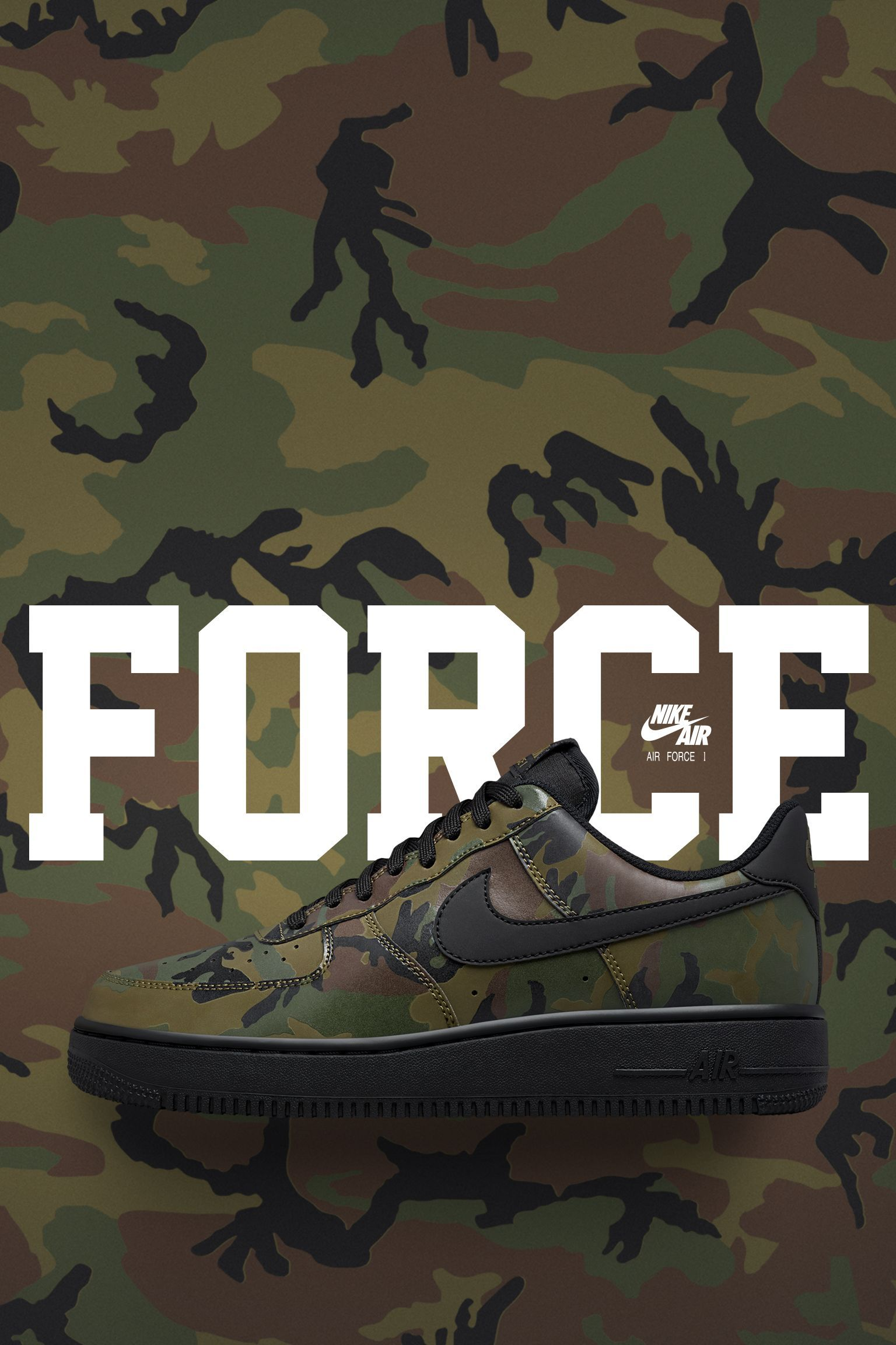 e73c1b53d11e Nike Air Force 1 Low 07  Medium Olive Camo Reflective  Release Date. Nike+  Launch GB