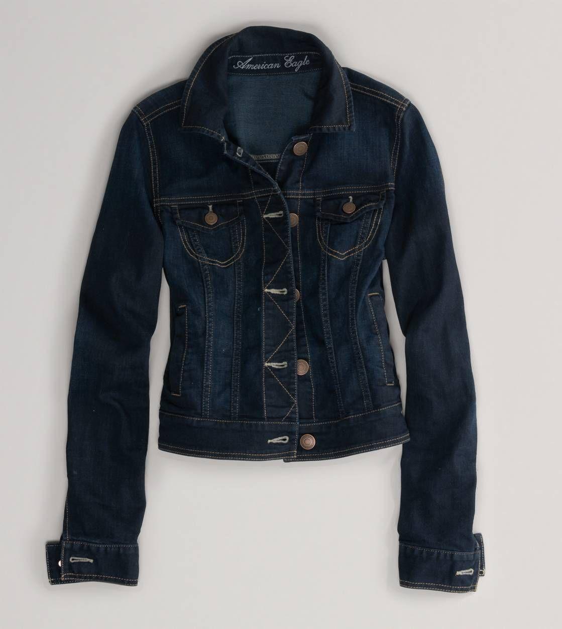 AEO Silver Linings Bomber Jacket | Dark denim jacket, Dark denim ...