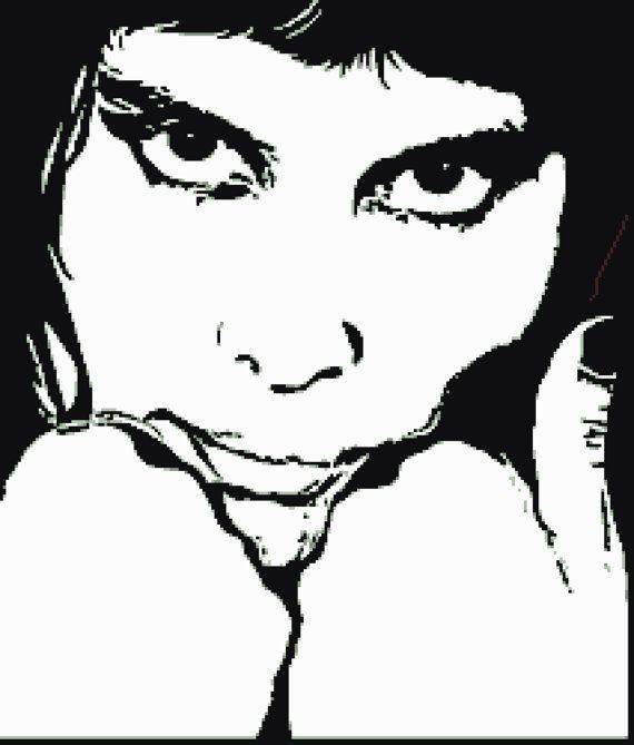 Freddie Mercury Black And White Easy Large Cross By Jennrbee