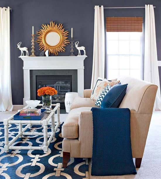 5 Dark But Not Daunting Paint Colors Blue Living Room Home Living Room Living Room Color