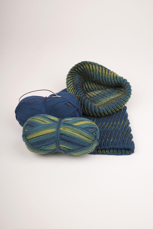 Strickanleitung Loop aus Sockenwolle | Anleitungen | Finkhof