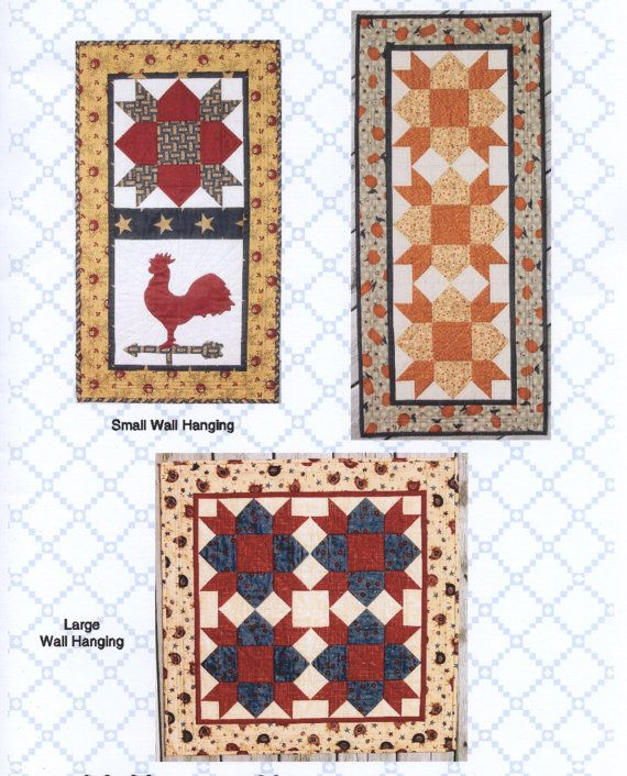 Weathervane - Quilt pattern to create a table runner and two wall hangings.
