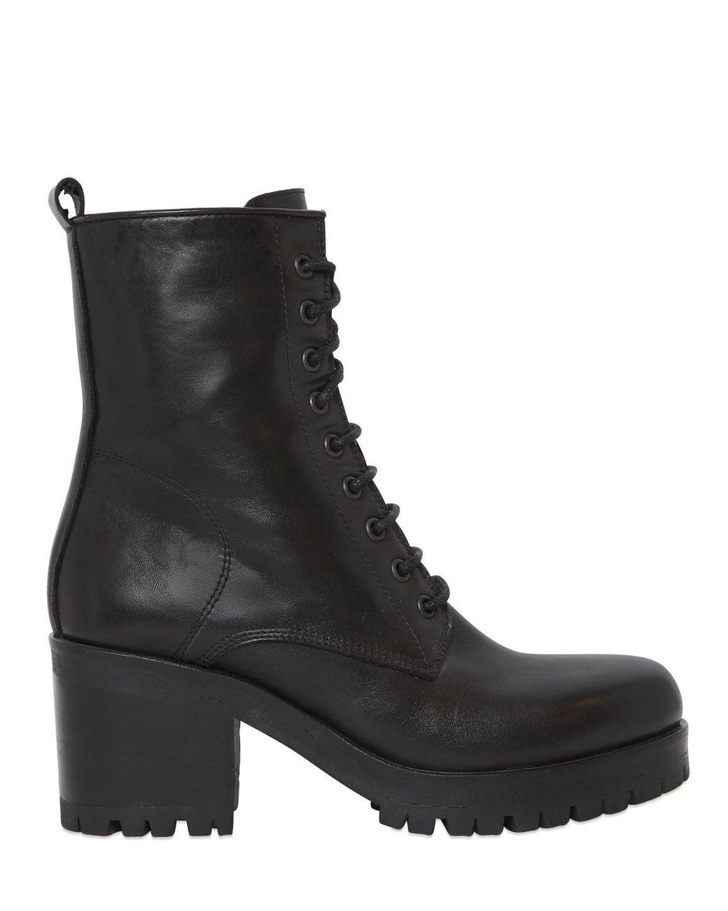 Strategia 50MM LEATHER LACE-UP BOOTS nWqEdN