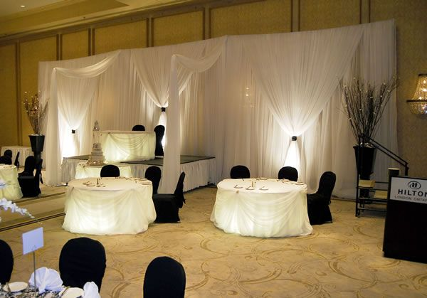 3 Panel Standard Backdrop - 6-10ft High, 3-Panel Fabric Backdrops, Event Decor Direct