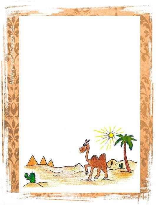 Briefpapier Sommer kostenlos ausdrucken - www.kreativ-zauber.de ...