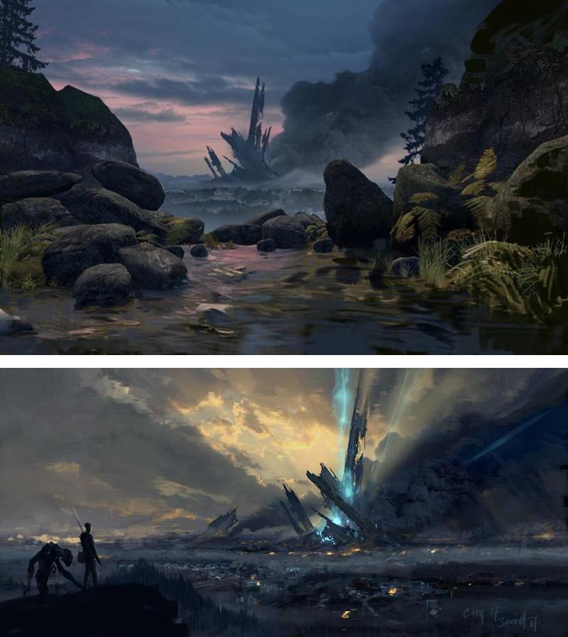 Half Life 2 Episode 2 Concept Art Citadel Environments Of