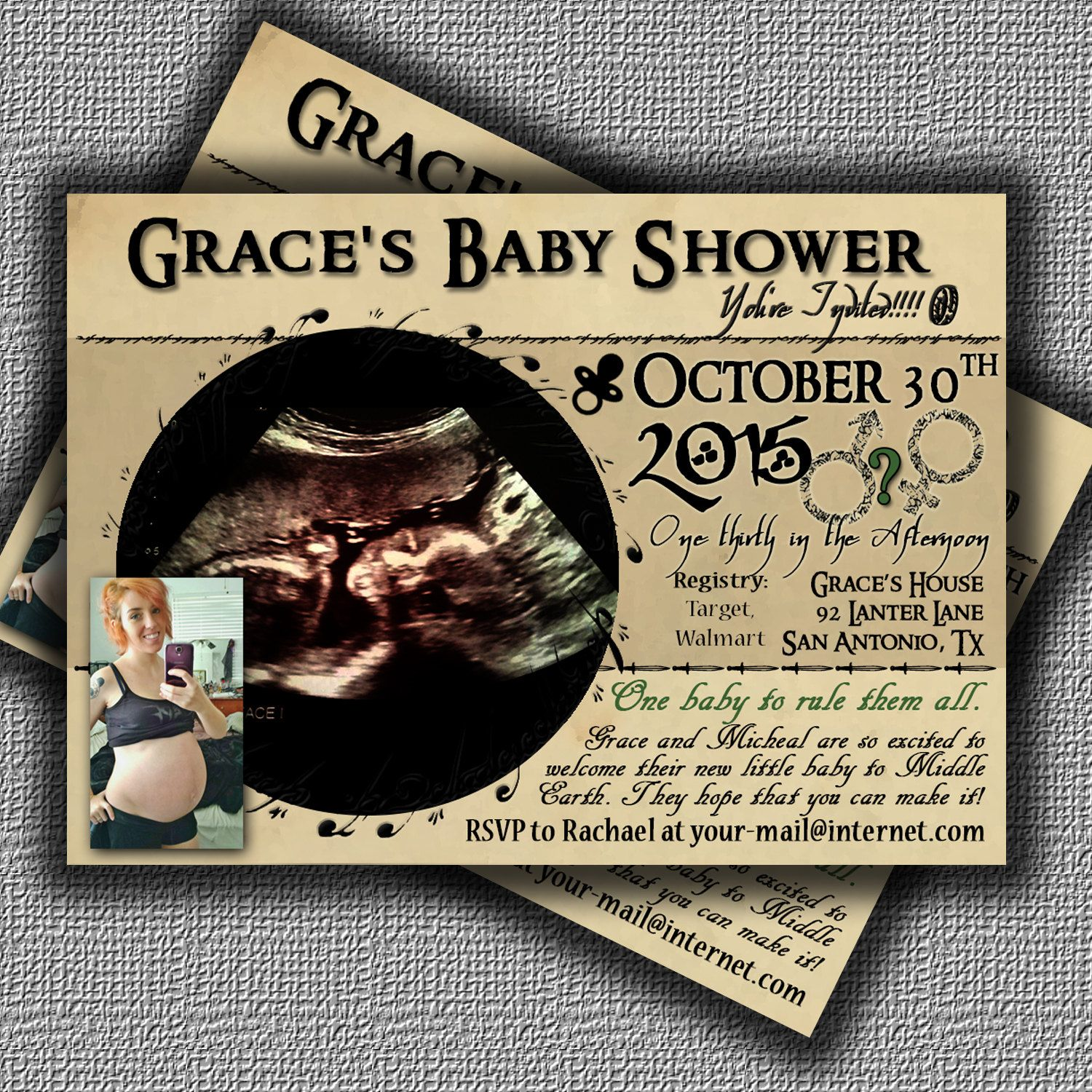 #Babyshowerinvitation Custom Lord Of The Rings Baby Shower Invitation One