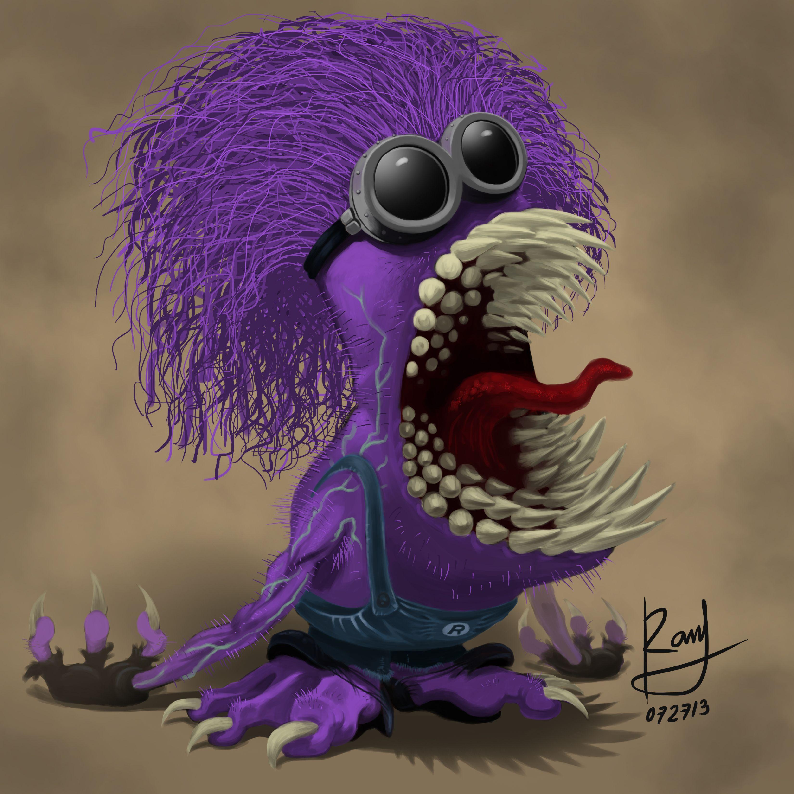 злой фиолетовый миньон картинка позволяет решать большинство