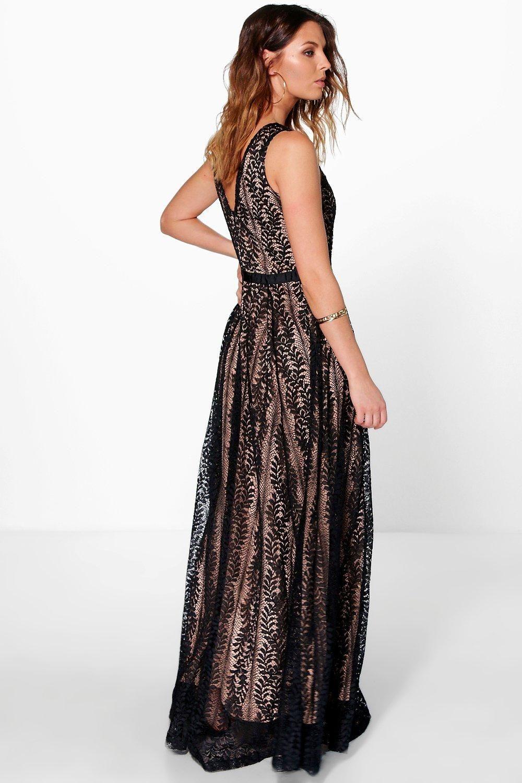 15c24b00f2 Boutique Ali All Lace Plunge Neck Maxi Dress