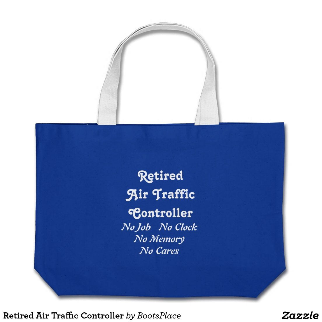 Retired Air Traffic Controller Large Tote Bag