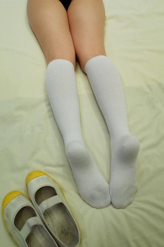Girl white socks fetish