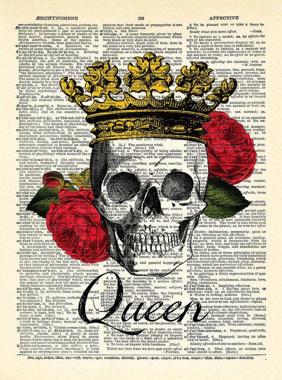 Skeleton Crown Art Poster 24x36 Poster Service