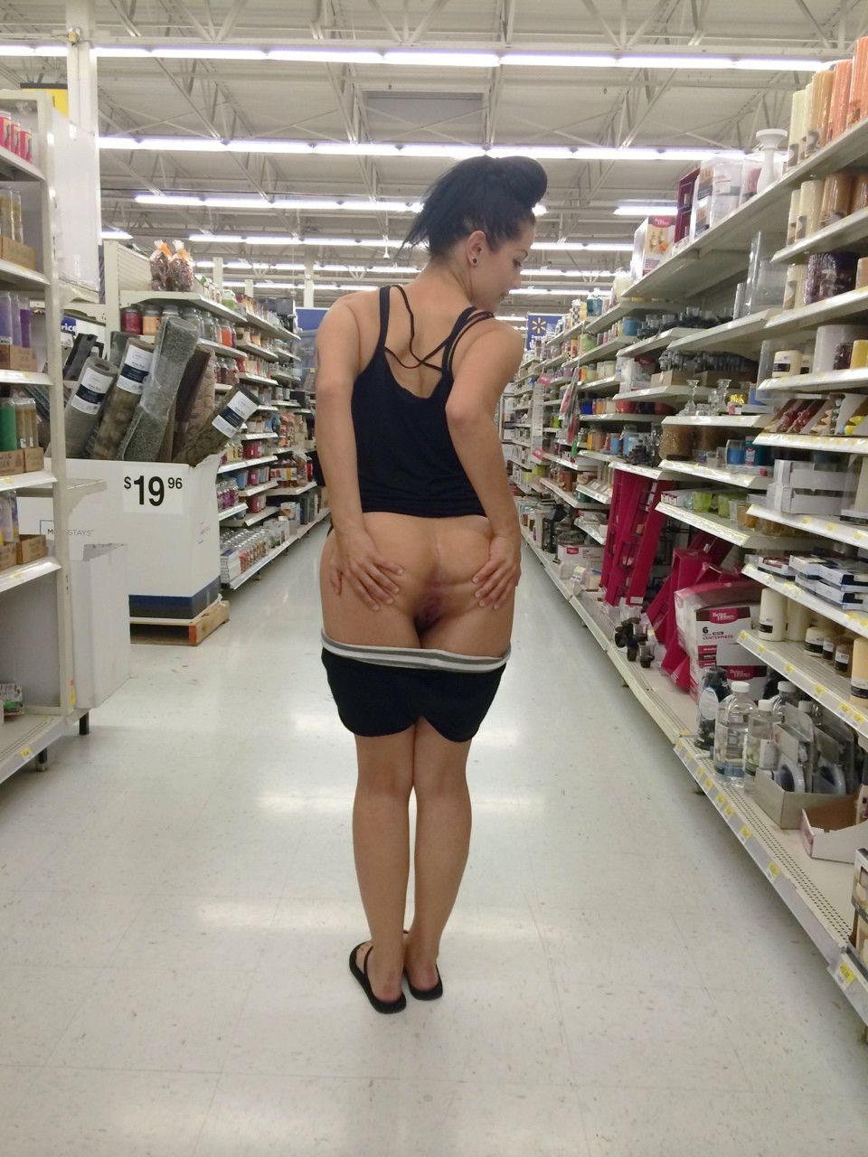Upskirt in supermarket hot milf second time