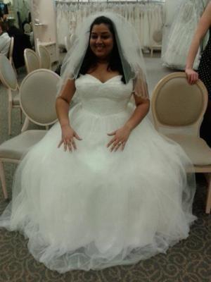 tulle corded lace corset plus size wedding dress  david's