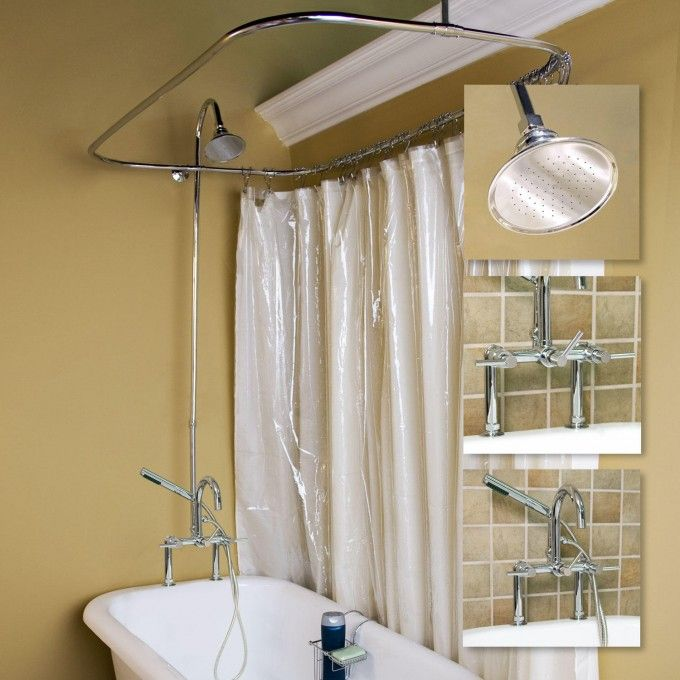 tub to shower faucet conversion kit. Sebastian Shower Conversion Kit  Rim Mount Faucet Lever Handles Clawfoot Tub Kits