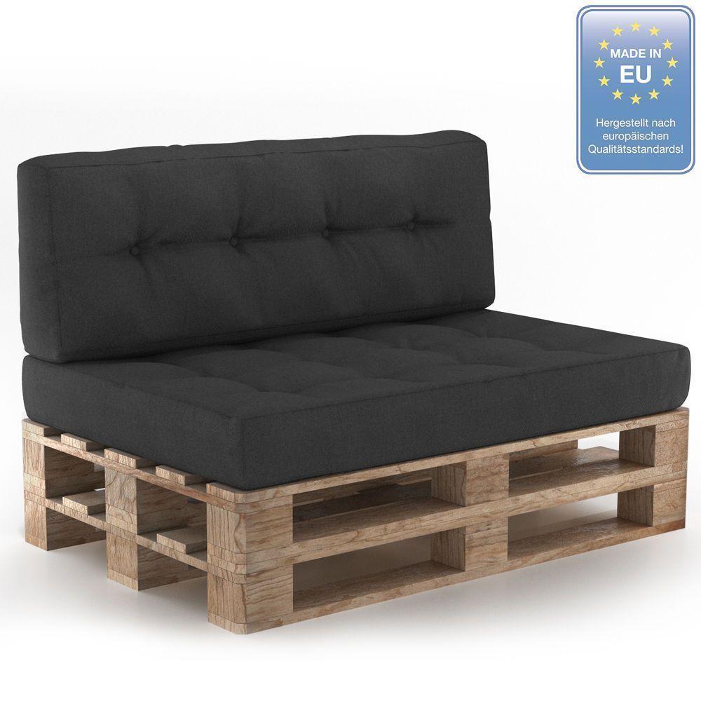 Palettenkissen Palettensofa Palettenpolster Kissen Sofa Polster Anthrazit Grau In Garten Terrasse Möbel Pallet Sofa Cushions On Sofa Pallet Couch Cushions