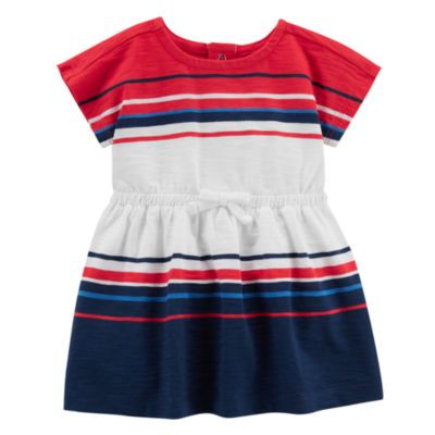 5813bd6a842f1 Buy Carter's 4th Of July Short Sleeve Stripe A-Line Dress - Baby ...