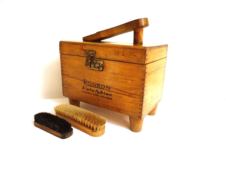 vintage wood shoe shine box stand polish brush kit caddy shoe vintage wood shoe shine box stand polish brush kit caddy shoe polisher wooden rustic tool box sewing storage display case vintage home decorvintage