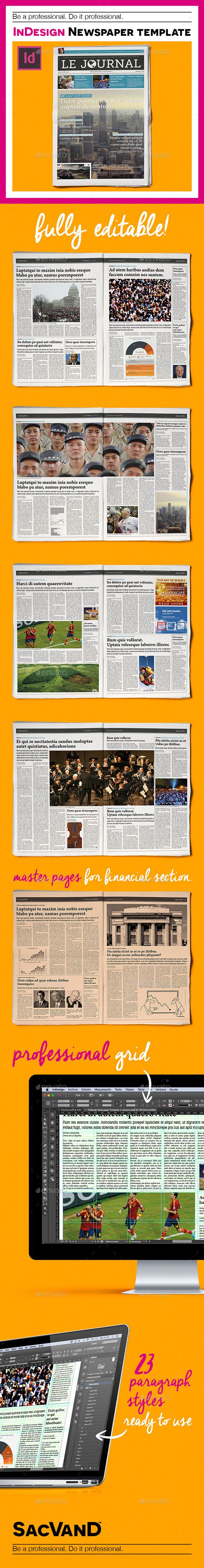 InDesign Newspaper Template 5 Columns