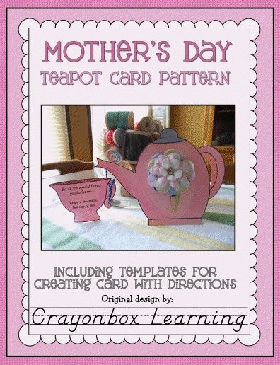 Motheru0027s Day Teapot Card Template Card templates, Teapot and - mothers day card template