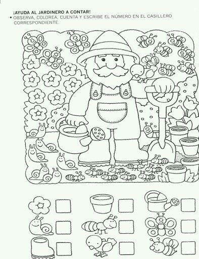 Jardinero Actividades Para Preescolar Actividades Escolares Fichas De Preescolar