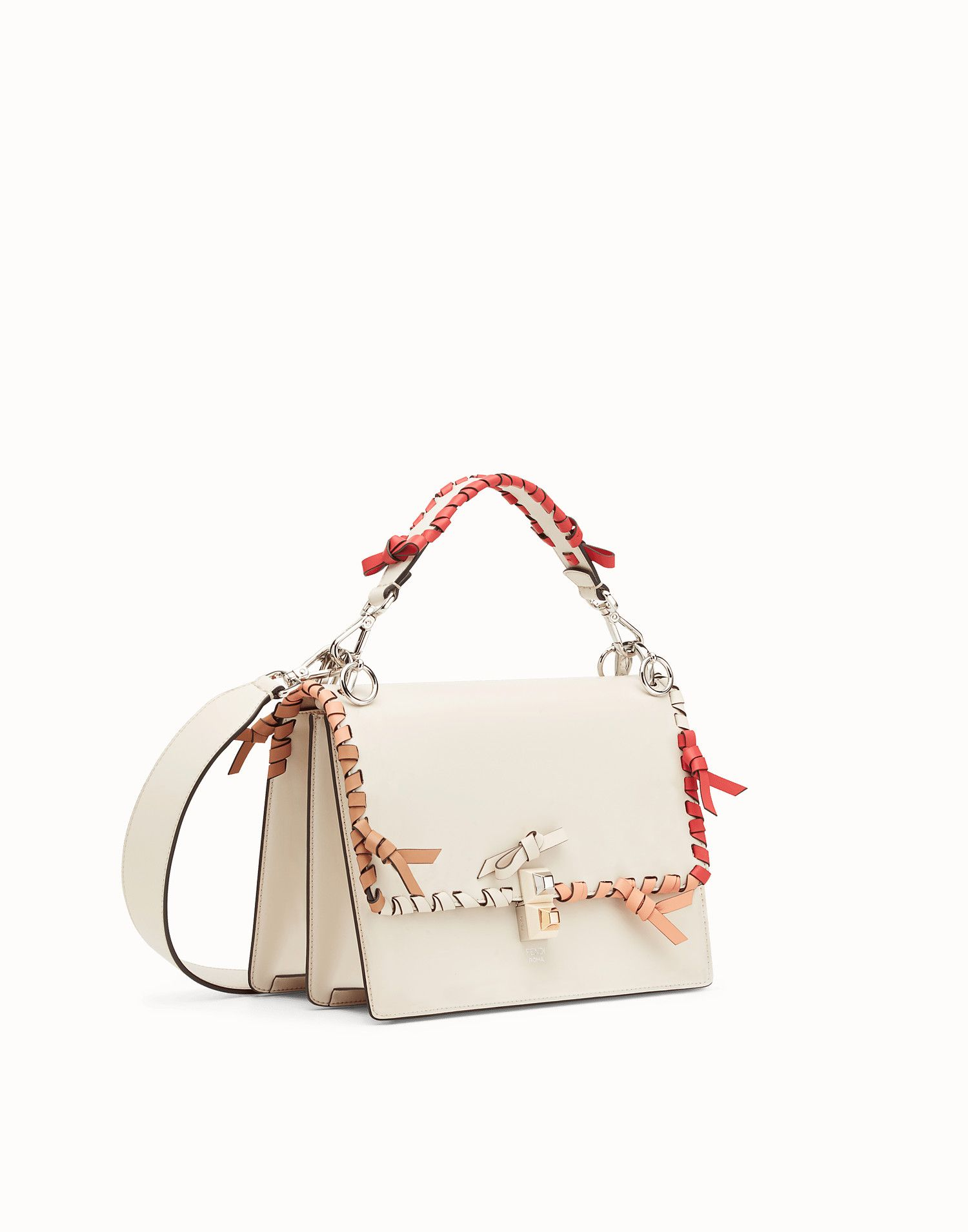 1613bf0262 FENDI KAN I - White leather bag - view 2 zoom